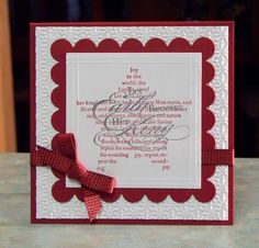 Handmade Christmas Card - Stampin Up The Sounding Joy