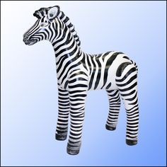 """2 Inflatable Realistic Zebra 56/""""H Safari Jungle Zoo Animals Bouncy Party Toys"""