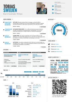 Curriculum Vitae (/Resume) Infographic Tobias Sweijen