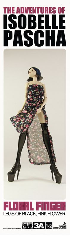The Adventures of Isobelle Pascha Floral Finger: legs of black, pink flower. You…