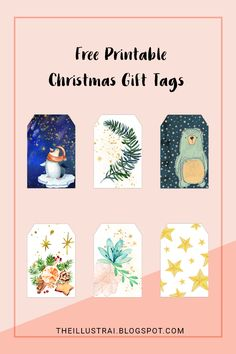 Download 6 different printable Christmas gift tags to adorn your gifts this holiday season. Click through to the blog post to get the free download