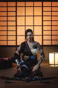 Ronin Samurai, Female Samurai, Samurai Warrior, Warrior Girl, Fantasy Warrior, Warrior Braid, Overwatch Hanzo, Samurai Wallpaper, Samurai Artwork