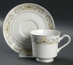 Sterling China (Japan) Florentine Footed Cup