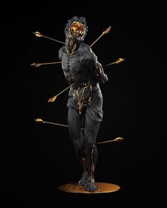 Xandt Sebastian (2016)  Your response to the @thegriswolds cover is overwhelming, thanks everyone for your constant support and faith in my work. Never forget: if you take an arrow to the knee, don't fall for the wrong person. Xx  #xandt #sculpture #black #gold #saintsebastian