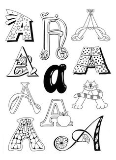 Typography- Designing your own alphabet Hand Lettering Alphabet, Doodle Lettering, Alphabet Art, Creative Lettering, Lettering Styles, Graffiti Lettering, Typography, Capital Alphabet, Doodle Fonts