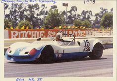 Me in an ELva Mk 7 C/S 1978 at Orange Count Int'l Raceway