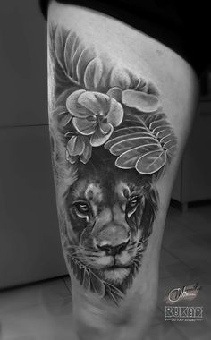 realistic tattoo, black and grey tattoo