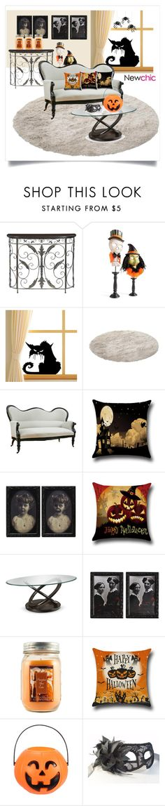 """Halloween With NewChic"" by my-name-is-nina ❤ liked on Polyvore featuring interior, interiors, interior design, home, home decor, interior decorating, Convenience Concepts, Grandin Road, Holiday Memories and Meri Meri"