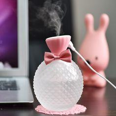 Cool crystal bottle Mini Steam Humidifier Air Purifier Aroma Mini Fogger gift