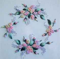 Some floral embroideries: Here are some Brazilian Embroideries that I did around 12 years ago. Back in the good old days when my fingers wo...