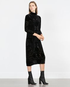 Image 1 of LONG VELVET DRESS from Zara