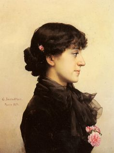 File:Berndtson Gunnar A Lady In Black With Pink Roses 1897.jpg