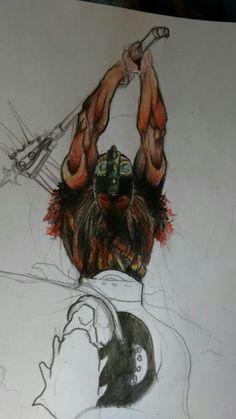 Studio e bozza per illustrazione by one