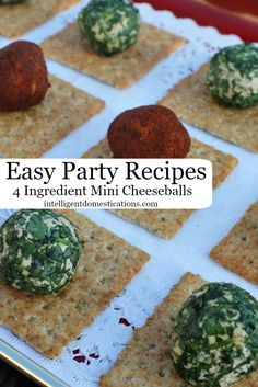 Easy Party Food. 4 Ingredient Mini Cheeseball Recipes!  #NaturallyCheesy Ad