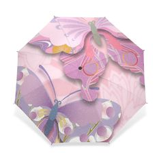VAWAS Butterfly And Flowers Pattern 100% Fabric and Aluminium Foldable High-quality Umbrella (41 Inch) >>> Don't get left behind, see this great product : Gift for Guys