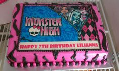 Beautiful Photo of Monster High Birthday Cakes Monster High Birthday Cakes Monster High Birthday Cake Ideas Monster High Cakes Decoration Monster High Birthday Cake, Doll Birthday Cake, Monster High Cakes, Kylie Birthday, Happy 7th Birthday, Monster High Party, Themed Birthday Cakes, Monster High Dolls, Birthday Cake Toppers