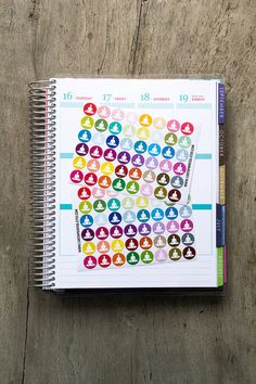 96 yoga stickers exercise sticker life planner by CartaPrintea
