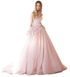 White by Vera Wang gown, $1,348 at David's Bridal, Sherwood Plaza, 1286 Worcester Street, Natick, 508-655-6464; 890 Providence Highway, Dedham, 781-251-9100; and other locations, davidsbridal.com