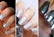 Más de 30 diseños de uñas color plateado – IMPERDIBLE !