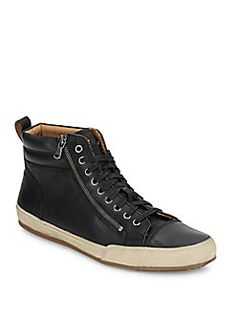 John Varvatos Star USA - Star Zip Leather High-Top Sneakers