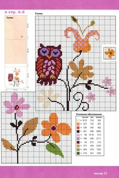 Lots of owls Cross Stitch Owl, Cross Stitch Needles, Cross Stitch Alphabet, Cross Stitch Flowers, Cross Stitch Charts, Cross Stitch Designs, Cross Stitching, Cross Stitch Embroidery, Cross Stitch Patterns