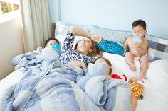 Morning snuggles are the best! #kids #blanket #quilts #family @henryandbros