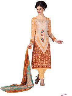 Pakistani Salwar Kameez, Pakistani Suits, Light Orange, Ethnic Fashion, Every Woman, Lawn, Snow White, Classy, Beige
