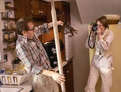 Diane Keaton photographs lobster fearing Woody Allen in ANNIE HALL. Keaton in real life was an established photographer.
