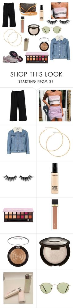 """Untitled #482"" by ps-ec ❤ liked on Polyvore featuring Boohoo, Louis Vuitton, Huda Beauty, MAC Cosmetics, Jouer, Laura Geller, Becca, Matteo and Topshop"