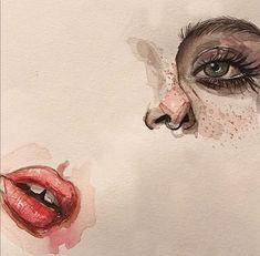 Art, drawing, watercolors, tumblr