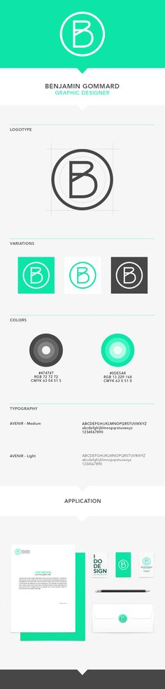 Graphic design, Visual identity & Personal branding by Benjamin Gommard, via Behance