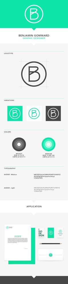 Graphic design, Visual identity & Personal branding by Benjamin Gommard, via Behance