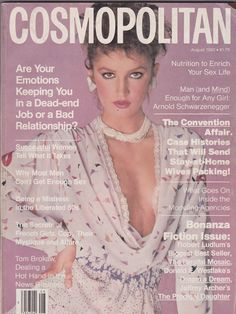 Anne Bezamat - Cosmopolitan August 1982 by Scavullo 80s Fashion, Fashion Photo, Womens Fashion, Runway Fashion, Fashion Magazine Cover, Magazine Covers, Francesco Scavullo, Cosmo Girl, My Magazine