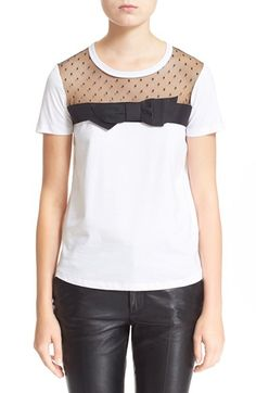 RED Valentino 'PDE' Bow Tee available at #Nordstrom