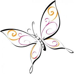 Best butterfly clip art collection: more than 170 free, large drawings of butterflies and clip art to choose from, including cartoon butterflies and fractal art. Cartoon Butterfly, Butterfly Clip Art, Butterfly Drawing, Butterfly Design, Butterfly Stencil, Simple Butterfly, Butterfly Tattoos, Doodle Drawings, Doodle Art