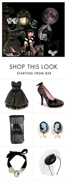 """""""The Dresden Doll"""" by catherinechronicles ❤ liked on Polyvore featuring Luella, Pinup Couture, Nicole Miller, Dolce&Gabbana, Monsoon, gothic, cameo jewelry, dresden, the dresden doll and goth"""