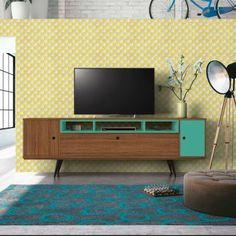 Por que o Rack Oasis?Aproveite e complete a decoração da sua sala de estar com a modernidade do Rack Oasis! O móvel é perfeito para completar o espaço com beleza e charme, contando com espaço para TV, objetos de decoração e aparelhos eletrônicos. Seu design moderno conta com pés no estilo retrô, garantindo assim que a redecoração do cômodo fique um encanto. Show, né? ;)