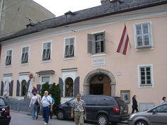 Mozart's birthplace in Salzberg, Austria