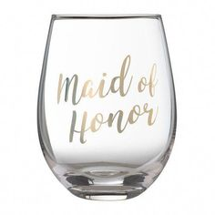 The Maid of Honor Stemless Wine Glass by Lillian Rose makes the perfect gift to commemorate the bridal party. Toast to the bride's special day in ultimate style with this drinkware, constructed of glass with chic golden script lettering. Sugar Scrub Diy, Diy Scrub, Maid Of Honour Gifts, Maid Of Honor, Bridesmaid Mug, Bridesmaids, Bridesmaid Proposal, Bridesmaid Dresses, Lillian Rose