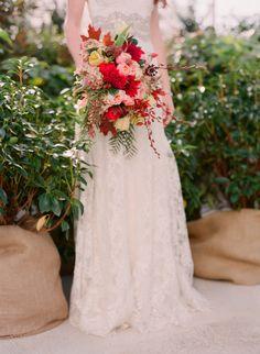 Elegant Red Bouquet | photography by http://www.jenfariello.com/