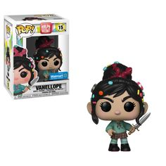 Funko Pop Wreck-It Ralph 2 Vanellope Pop! Vinyl Figure video game villain with a heart of gold is back and the adventures continue with Ralph Breaks the Internet. This Wreck-It Ralph 2 Wreck-It Vanellope Pop! Pop Figurine, Figurines Funko Pop, Funko Figures, Disney Figurines, Funk Pop, Disney Pop, Disney Marvel, Wreck It Ralph, Pop Vinyl Figures