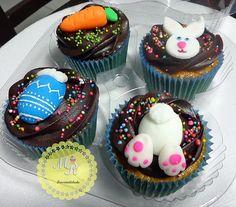 Cupcake Cenoura com Cobertura Trufada  #deliciasdepáscoa #mrcupcakes #cupcakespe #bolospe