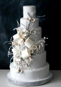 Winter wedding cake by the Caketress :  https://www.facebook.com/thecaketressca