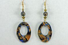 Swirl Design-Perlen Ohrringe - Polymer Clay Schmuck - Clay Jewelry - Art Jewelry - Geschenkidee - Schmuck Geschenk von CatsUniqueBeads auf Etsy https://www.etsy.com/de/listing/193068998/swirl-design-perlen-ohrringe-polymer