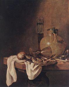 Абрахам ван Беерен -  Завтрак. Голландские художники