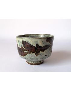 hamada shoji | ceramics | Chawan with nuka and iron oxides