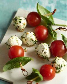 Tomato and Mozzarella Skewers - http://www.sweetpaulmag.com/food/tomato-and-mozzarella-skewers #sweetpaul