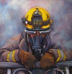 Firefighter Art Paintings | Smoke Jumper 126 Painting