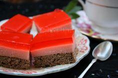 Ciasto z galaretką i budyniem – bez glutenu, bez mleka, bez cukru. – Bezglutenowe jadło.