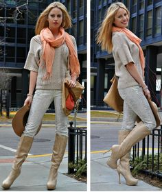 Make Me Blush #outfit  , Bakers in Boots, Mango in Pants, BCBG in Bags, Topshop in Scarves / Echarpes